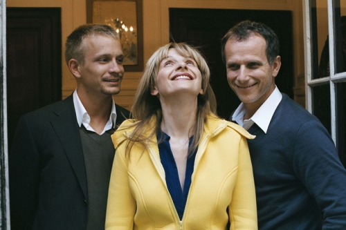 Jeremie Renier, Juliette Binoche and Charles Berling as the siblings in Summer Hours
