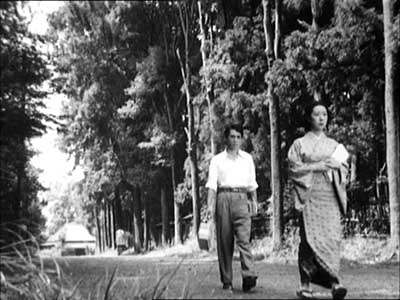 Tsutomu and Michiko in the woods by Musashino