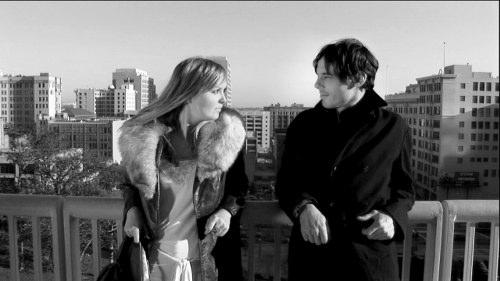 Vivian and Wilson and the LA skyline