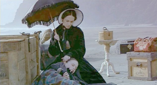Holly Hunter and Anna Paquin in The Piano