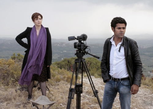 Agnes Jaoui and Jamel Debbouze as Agathe and Karim