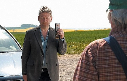 Kenneth Branagh as Kurt Wallander in the BBC series shot in Sweden.