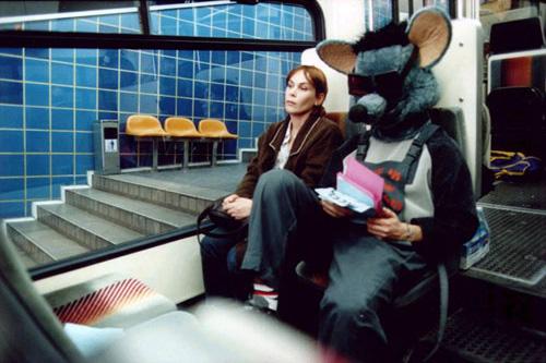 Dafna and Yair on the Mt Carmel underground funicular railway