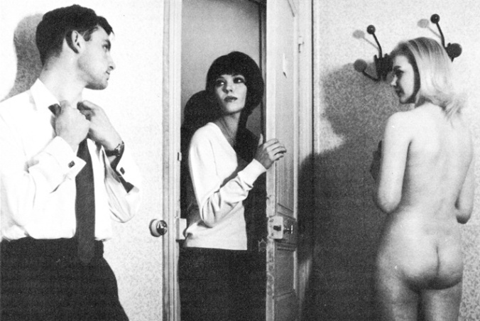 Anna Karina (centre) as Nana in one of the brothel scenes.