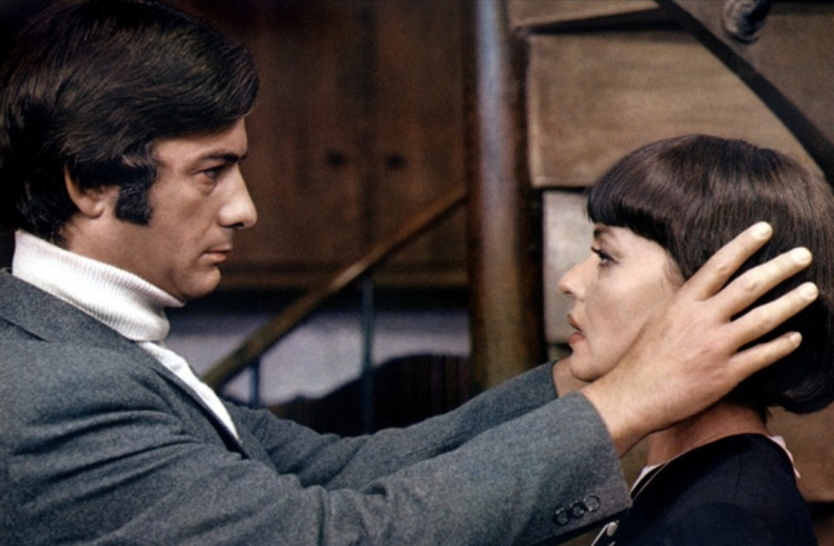 Jean-Claude Brialy and Jeanne Moreau in The Bride Wore Black (1968)