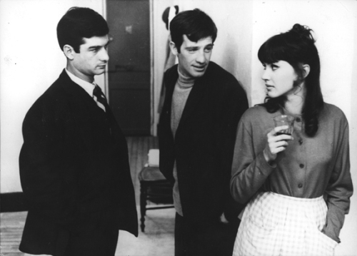 Jean-Claude Brialy with Jean-Paul Belmondo and Anna Karina in Une femme est une femme