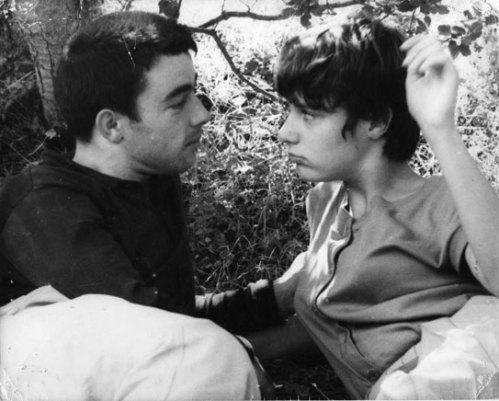 Gérard Blain and Bernadette Lafont in Les Mistons