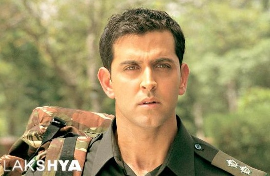 Hrithik Roshan as the young army officer Karan
