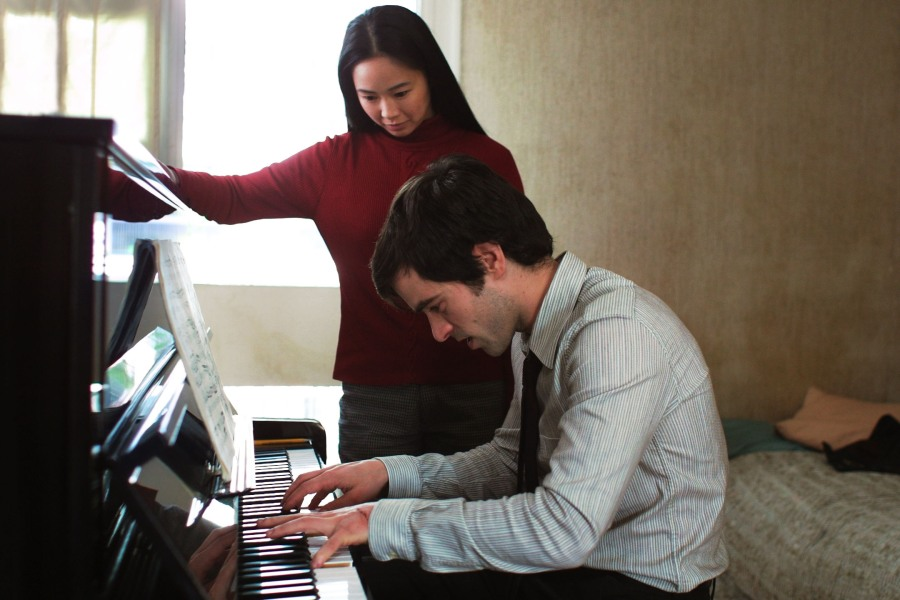 Thomas (Romain Duris) and Miao-Lin (Linh-Dam Pham) in The Beat That My Heart Skipped