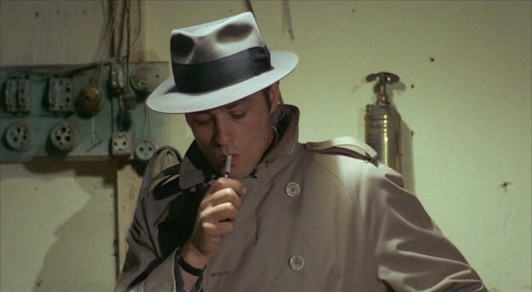 Alain Delon as Jef Costello in Le Samourai – at your heart out, Johnny Depp!