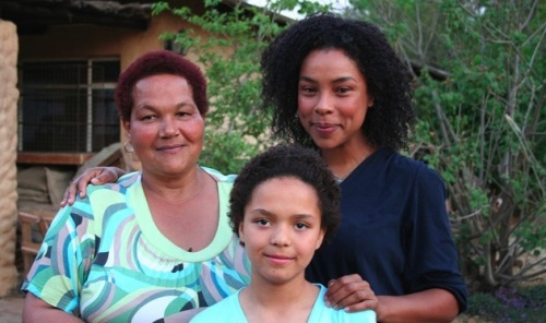 Sandra Laing (left) with Sophie Okonedo and Ella Ramangwane who play her as child and adult.