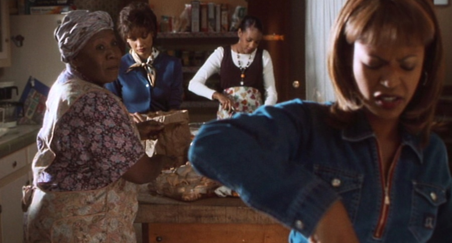 Mama Jo and her three daughters in the kitchen