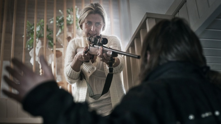 Everyone has access to a rifle – Annika Nordin as Karin