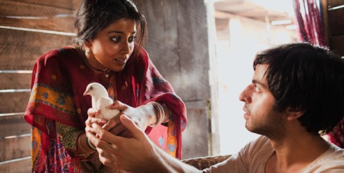 Parvati (Shriya Saran) and Saleem (Satya Babha) are two of 'Midnight's Children' with magical powers.