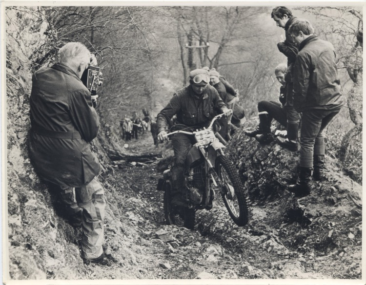 Shooting motorcycle trials. Image from the C. H. Wood collection at YFA.