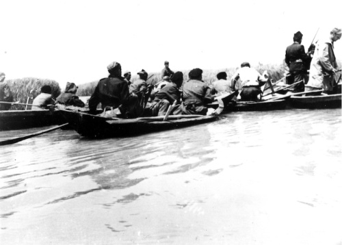 The partisans and the Allied agents on the Po delta.