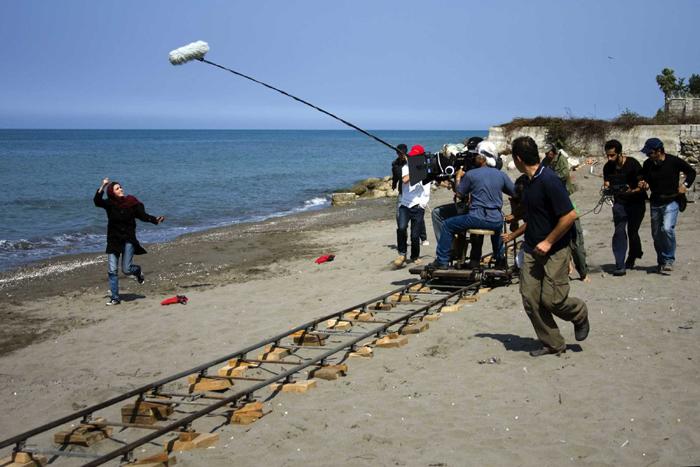 A production shot from 'About Elly' dir. Asghar Farhadi