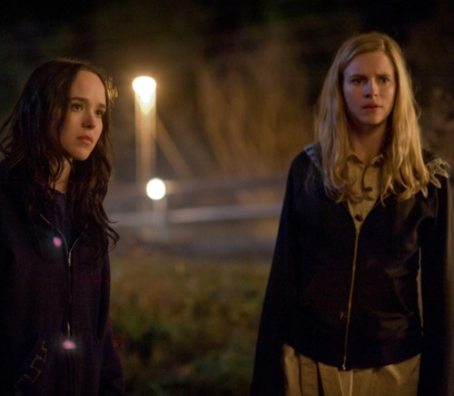 Ellen Page (left) and Brit Marling.