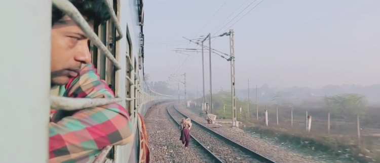 The long train journey to Bombay in the Anurag Kashyap segment.