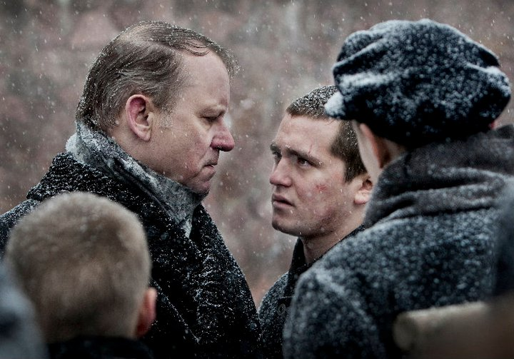 Stellan Skarsgard as the Governor of the home and Benjamin Helstad as Erling.