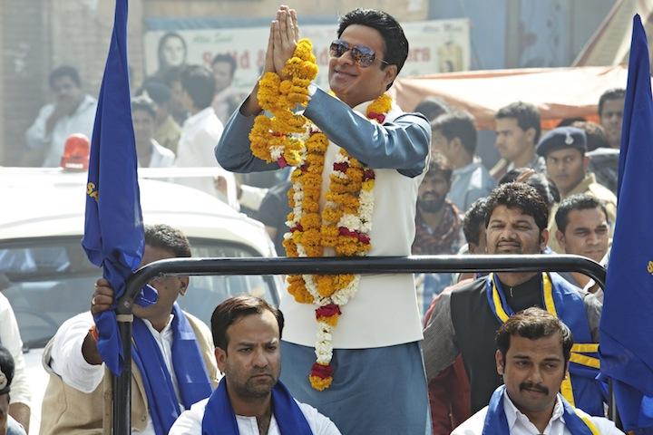 Manoj Bajpai as the villainous local politician