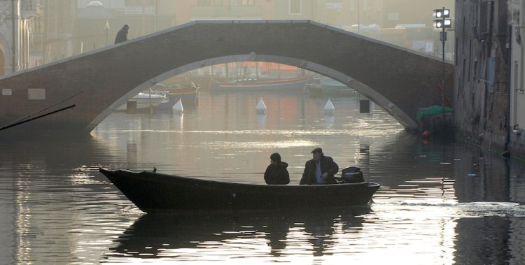 Bepi and Shun Li in his boat.