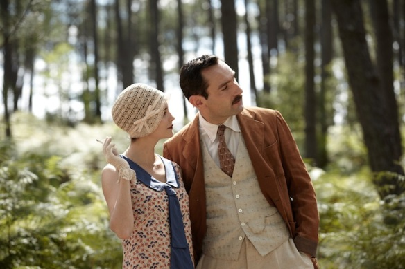 Therese and Bernard in the forest.