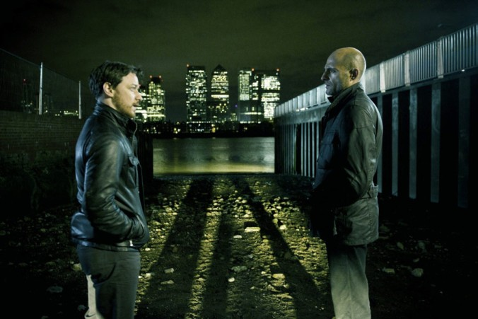 Max (James McAvoy) and Sternwood (Mark Strong)