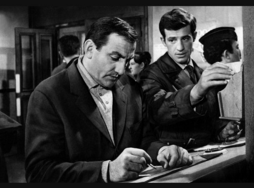 Lino Ventura (Abel) and Jean-Paul Belmondo (Eric)