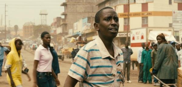 Mwas (Joseph Waimiru) bewildered when he first arrives in Nairobi.