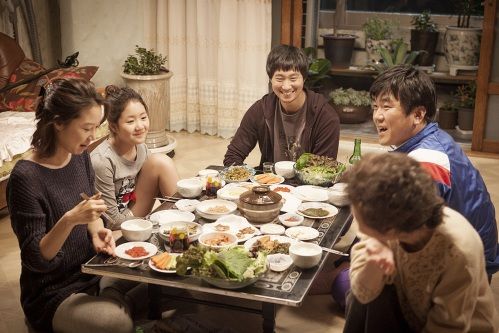 Eating together is a defining part of the Boomerang Family's daily life.