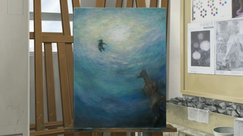 One of the paintings demonstrating the talent for art that Makoto discovers he has. (Image from http://www.lostinanime.com/2011/05/colorful.html)