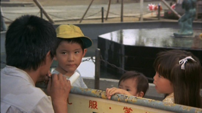 Sokichi with the three children (from DVD Beaver)