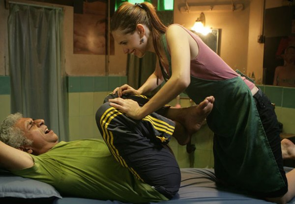 Kalki Koechlin and Naseeruddin Shah in THAT GIRL IN YELLOW BOOTS