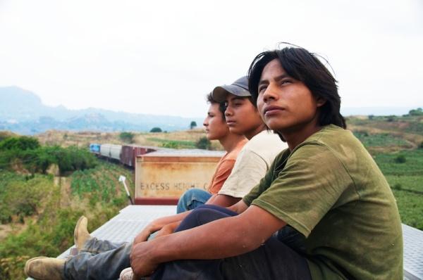(from left) Juan (Brandon López), Sara (Karen Martinez) and Chauk (Rodolfo Domínguez) in THE GOLDEN DREAM