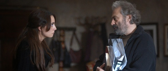 Nihal (Melisa Sözen) and Aydin in one of many 'interior' shots that use the space in the CinemaScope frame carefully to represent the relationships between characters.