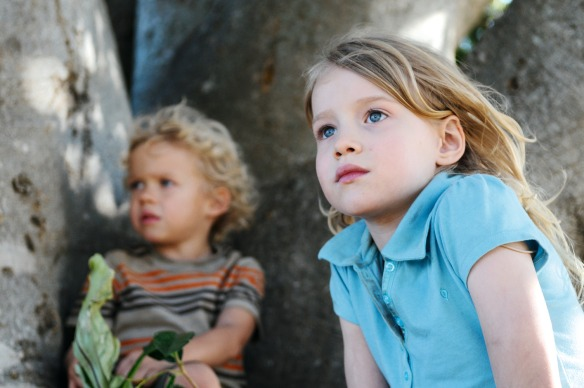 The two youngest children, Charlie and Simone (Morgana Davies)