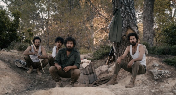 The fedayeen in the woods. Layth (Saleh Bakri) is on the right.