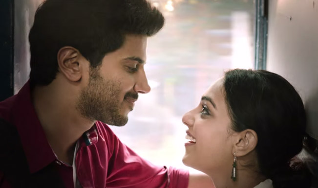 The lovers, Adi (Dulquer Salmaan) and Thara (Nitya Menen)