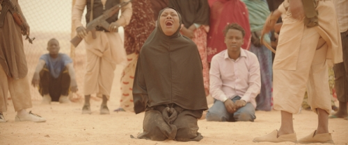 A woman publicly lashed for singing in her house