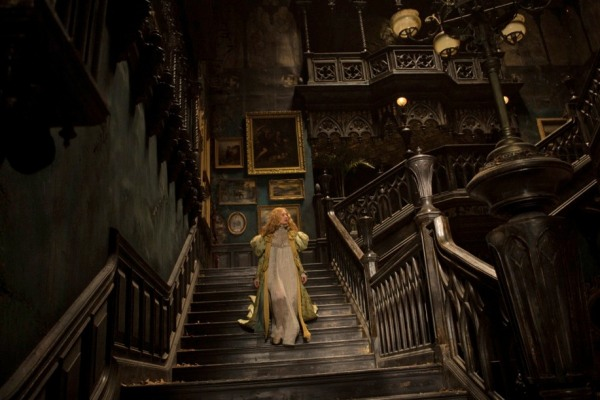 Edith begins to explore the gothic house . . .