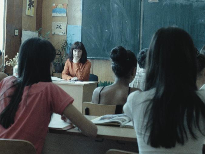 Nade in her classroom.