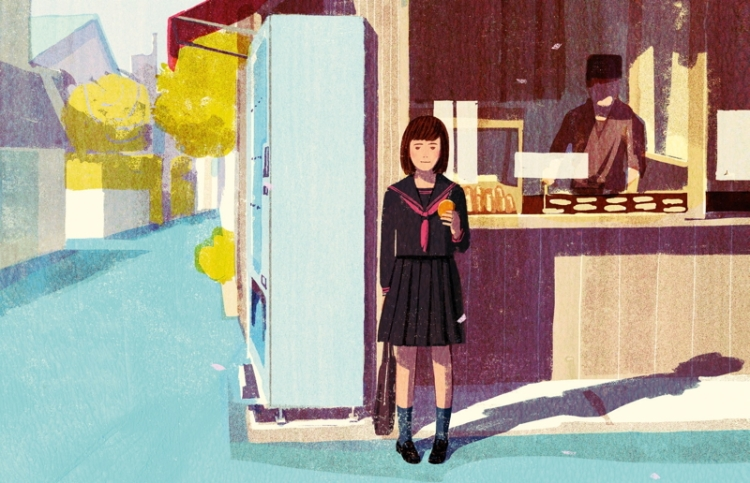 From the cover of the novel 'Les délices de Tokyo'